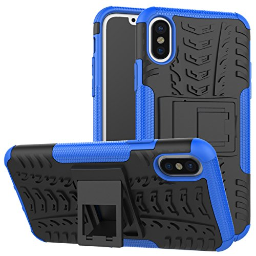 (Codream iPhone X Case, Backcover iPhone X Cover, Backcover Impact Resistant Durable Phone Cover for iPhone X (Blue))