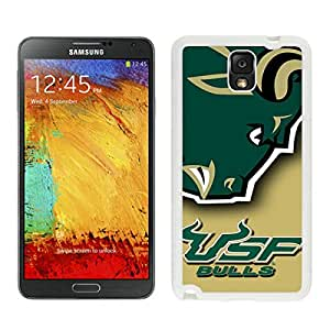 NCAA American Athletic Conference AAC Football South Florida Bulls 6 White New Recommended Design Samsung Galaxy Note 3 Phone Case