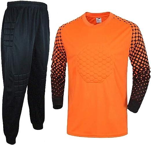 WHSPORT Uniforme Portero Fútbol Equipar Anti Choques Masculino Traje Portero Camisa Dragón Ropa Entrenamiento Pantalones (Color : Orange, Size : L): Amazon.es: Hogar
