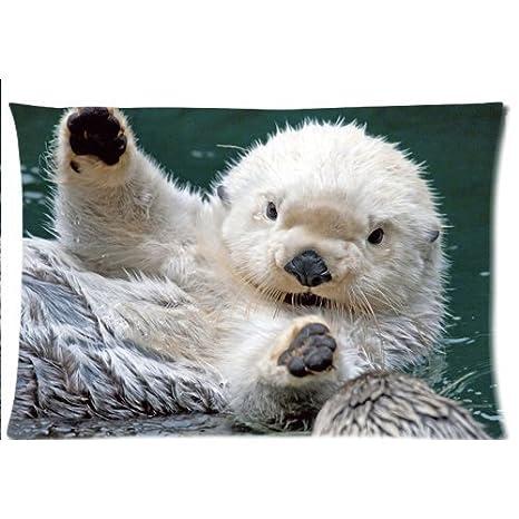 Amazon.com: Bebé Mar Nutria fundas de almohada personalizado ...