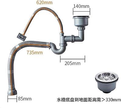 Tubo de desagüe del desodorisante de las instalaciones de tuberías ...