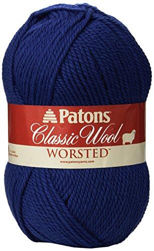 Patons Decor Wool - Patons  Classic Wool Yarn - (4) Medium Gauge 100% Wool - 3.5oz -  Royal Blue -   For Crochet, Knitting & Crafting