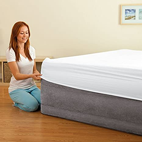 c128ed9ef95f9 Intex Comfort Plush Elevated Dura-Beam Airbed with Built-in Electric ...