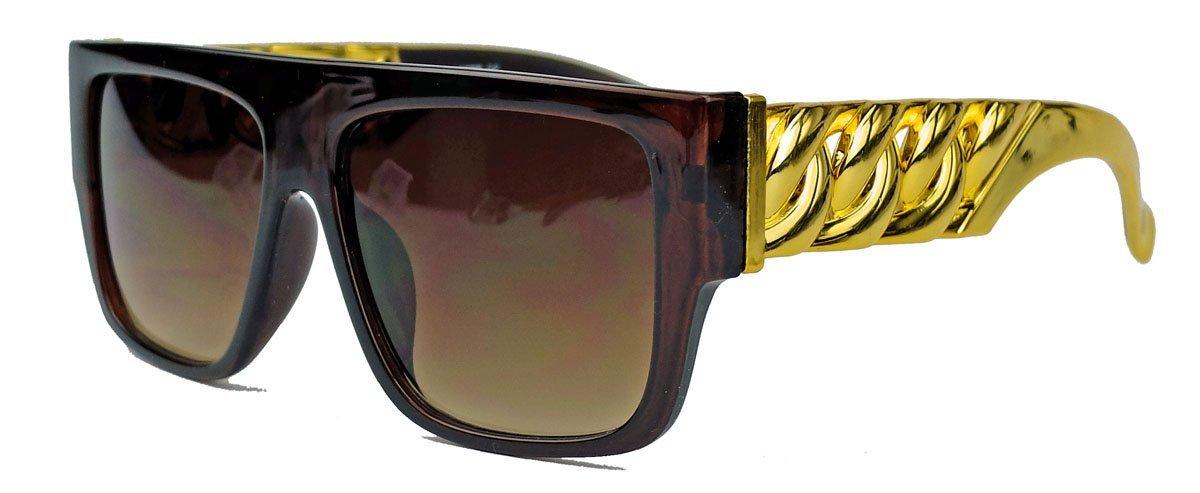 GIANNI MEDUSA Flat Top Sonnenbrille oversized Gold Chain FARBWAHL FGC (Gold Chain Schwarz) BofRt6sP