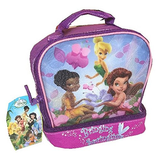 Disney Tinkerbell and Fairies Lunchbox Dual Compartment Purple