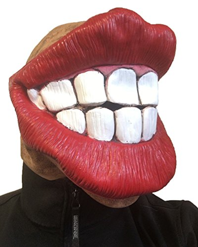 Rubber Johnnies Big Mouth Smiley Face Fat Red Lips Mask by, Jagger , Smile , Batchelor Party , Adult ()