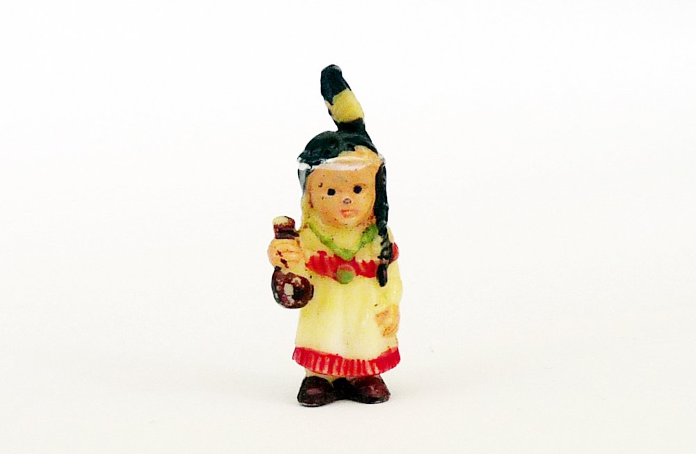 Kinder Überraschung, Indianermädchen mit Flasche, Stirn Bemalt Bemalt Bemalt (Alte Figuren) 949efc