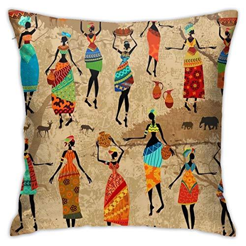 Kenya Vintage with Beautiful African Women Village Daily Decorations Sofa Throw Pillow Case Cushion Covers Zippered Pillowcase 4545 (Kenya Sofa)