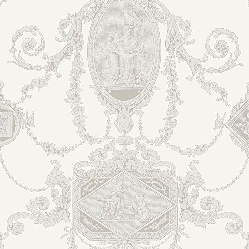 PV00200 - Regency Wall Plaques Cherubs Ivory Blendworth Wallpaper (Cherub Wallpaper)