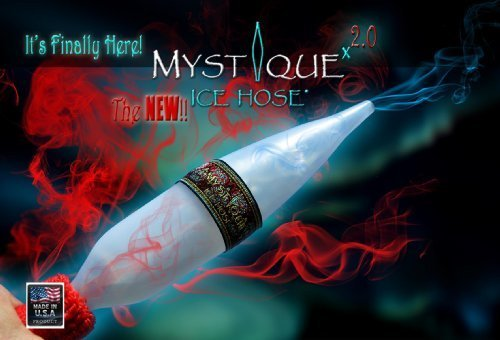 The NEW Mystique Ice Hose 2.0 (Chiller Ice Tip for Hookah Shisha) Box of 25 by Mystique Ice Hose