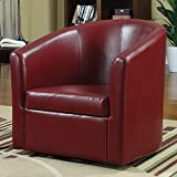 Accent Swivel Chair Red For Sale