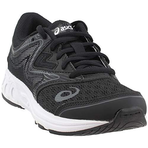 ASICS Unisex-Kids Noosa GS Running Shoe, Black/Carbon/Mid Grey, 1 Medium US Big Kid by ASICS (Image #7)