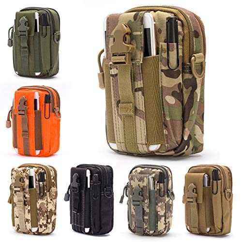 - Lightbare Tactical Molle Pouch Multipurpose EDC Waist Bag Pack, Outdoor Men Compact Gadget Utility Belt with Cell Phone Holster Holder (CP CAMO)