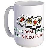 CafePress - Video Poker Large Mug - Coffee Mug, Large 15 oz. White Coffee Cup