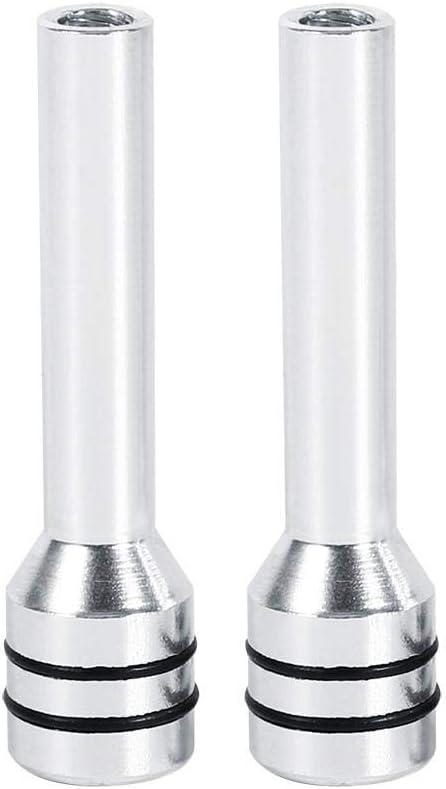 Perilla de Bloqueo de Puerta de Coche astilla 2 Piezas Cubierta Universal de Pernos de Perilla de Bloqueo de Puerta Interior de Aluminio para Cami/ón de Coche