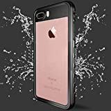 Co-Goldguard iPhone 7 Plus Waterproof Case iPhone 8 Plus Waterproof Case IP 68 Underwater Cover Outdoor Shockproof Snowproof Dirtproof 360 Full Protection Shell for iPhone 7+/8+,Black+Clear
