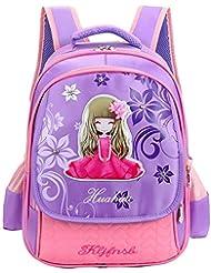 Betop House Princess Design Nylon Kids School Bag Backpack for Girls