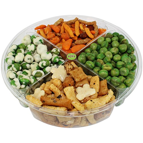 Premium Gourmet Nuts & Peas Assorted Gift Basket, Healthy Mix Fresh and Roasted.