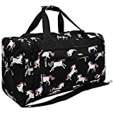 Unicorn Print NGIL Canvas Carry on Shoulder 23'' Duffle Bag