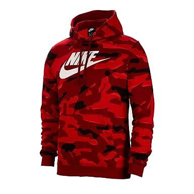 a2317f4b5 Nike Men's NSW Club Fleece Pullover Hoodie Team Red/White AR2867-323 ...