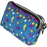 Women's Animal Print Triple Zipper Wallet Clutch Purse Bag Card Holder