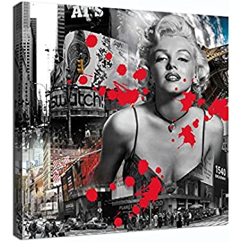 Yatsen Bridge Sexy Marilyn Monroe Printed Painting On Canvas Wall Art Black White Red Prints Picture For Living Room Home Decorations Framed 50x50cm