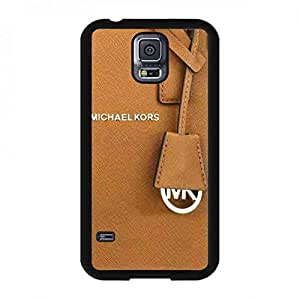 Fashion MK Logo Luxury Michael Kors Phone Funda Cover For Samsung Galaxy S5_(Brown Series)