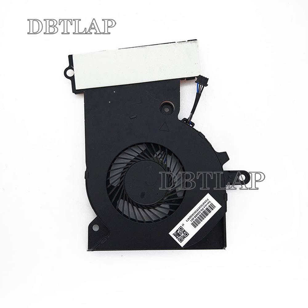 DBTLAP CPU Cooling Ventilador Compatible para HP Omen 15-CE 15-CE000 15-CE010CA 15-CE020CA 15-CE030CA 15-CE051NR Laptop Ventilador CPU 929455-001 NFB74A05H-001