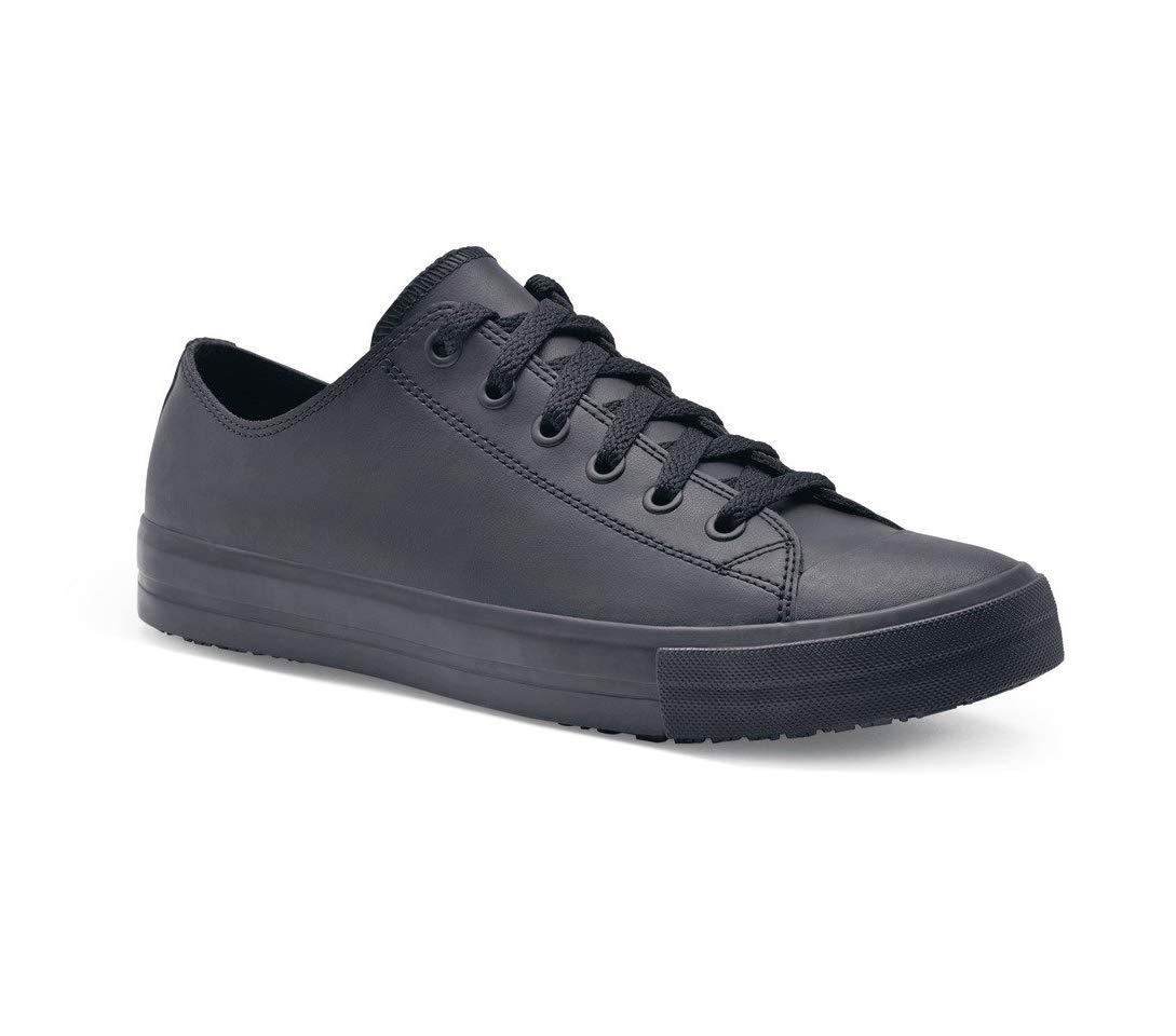 TALLA 9 UK. Zapatos para Crews DELRAY Zapatos informales de cuero para hombre, 9 UK, Negro, 1