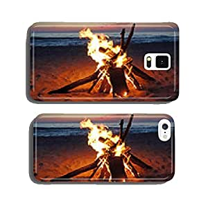 Blazing campfire by Lake Michigan cell phone cover case iPhone5