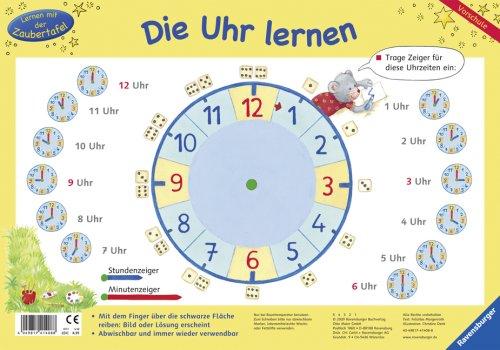 Die Uhr lernen (Lernen mit der Zaubertafel)