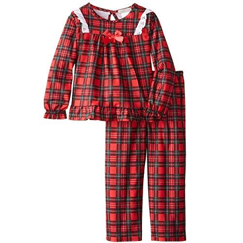Plaid Kids Clothing (Komar Kids Big Girls'  Traditional Holiday Plaid Pajama Set, Red,)