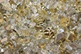 Reflective Fire Pit Fire Glass in Gold, 10 Pounds
