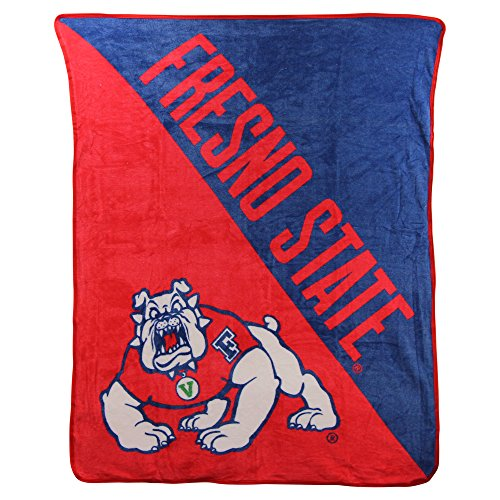 The Northwest Company NCAA Collegiate Half Tone Super Soft Plush Throw Blanket (Fresno State Bulldogs)