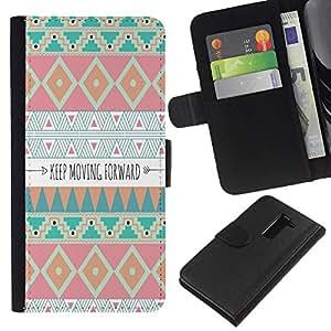 Avanzando motivación india- la tarjeta de Crédito Slots PU Funda de cuero Monedero caso cubierta de piel Para LG G2 D800