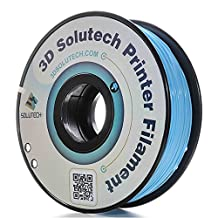 3D Solutech Printer Filament, Aqua Blue PLA, 1.75MM Filament, 2.2 LBS (1.0KG) Spool, Aque Blue