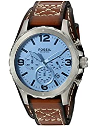 Fossil Mens JR1515 Nate Chronograph Light Brown Leather