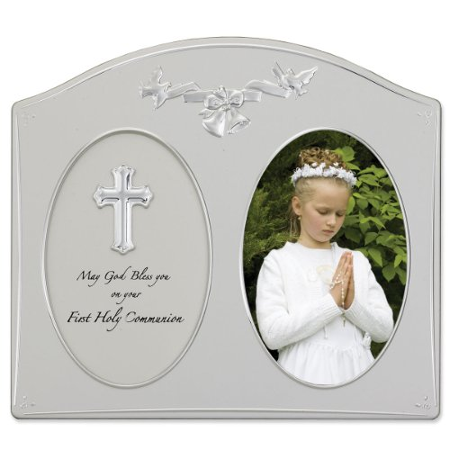 (Lawrence Frames Silver Metal 4 by 6 Holy Communion Picture Frame)
