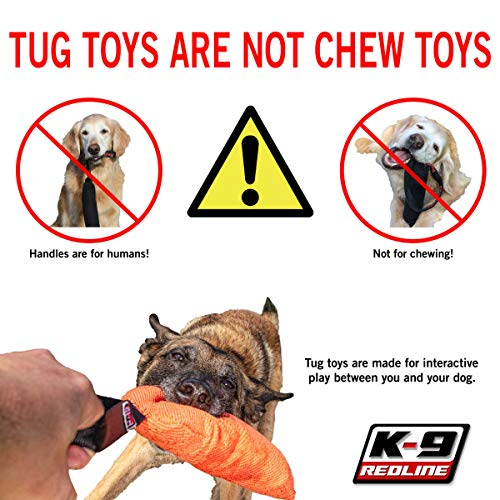"Redline K9 Bite Suit Tug Toy (3"" x 10"") 2 Handle"