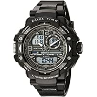 Armitron Sport Men's 20/5062BLK Analog-Digital Chronograph Black Resin Strap Watch