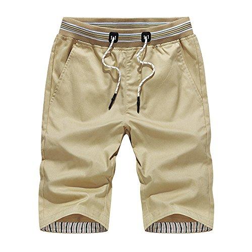 (Mens Long Board Shorts,Shybuy Mens Shorts Swim Trunks Quick Sport Beach Surfing Swimming Water Pants Khaki)