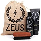 Zeus Basic Beard and Mustache Grooming Kit for Men - Beard Care Starter Kit to Help with Itching and Dry Skin