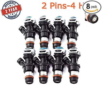 8PCS Fuel Injectors For 2001-2007 Chevy GMC Cadillac /& Chevrolet 4.8L 5.3L 6.0L