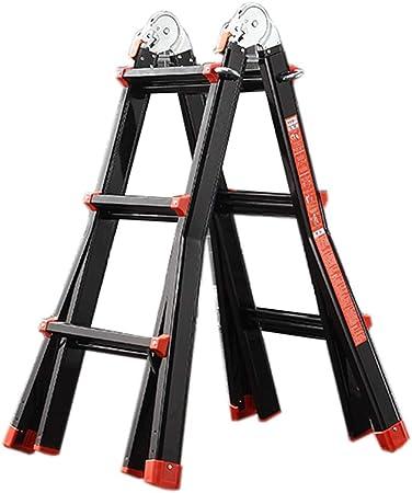 Escalera extensible/ Escalera telescópica Escalera Gigante pequeña de 3 Pasos - Escalera de extensión de Aluminio de usos múltiples para Uso doméstico, 3.3M (10.8FT), 150 KG: Amazon.es: Hogar