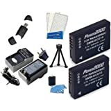 Lumix POWER KIT DMW-BCG10 (Includes 2-1200mAh batteries, pocket charger, card reader, mini tripod, screen protectors and camera cleaning kit) for the Panasonic DMC-ZS1, DMC-TZ7S, DMC-TZ7T, DMC-ZS1K, DMC-ZS1S, DMC-ZS3, DMC-ZS8, DMC-ZS9, DMC-ZS10, DMC-ZS5, DMC-ZS6, DMC-ZS7 DMW BCG10E, DMW BCG10P