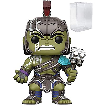 Marvel: Thor Ragnarok - Gladiator Hulk Helmeted Funko Pop! Vinyl Figure (Includes Compatible Pop Box Protector Case): Toys & Games