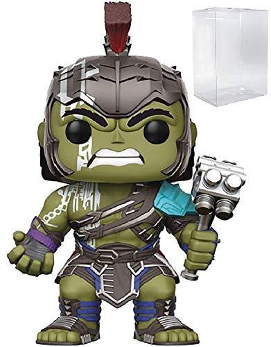 Marvel: Thor Ragnarok - Gladiator Hulk Helmeted Funko Pop! Vinyl Figure (Includes Compatible Pop Box Protector Case) (Vinyl Rider Adult Ghost)