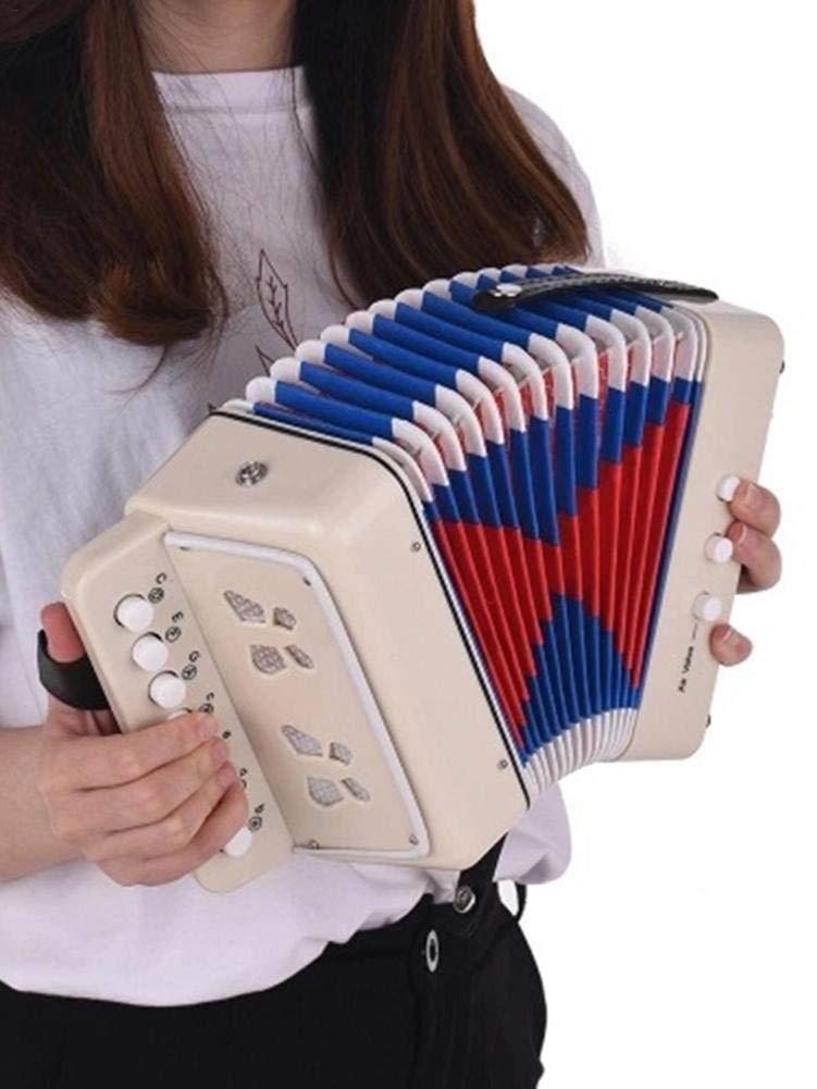 Instrument de musique pour enfants Jouets rythmiques pour enfants Cadeau pour No/ël amateur d/ébutant l/éger et respectueux de lenvironnement Accord/éon pour enfants 7 touches avec 3 accord/éons