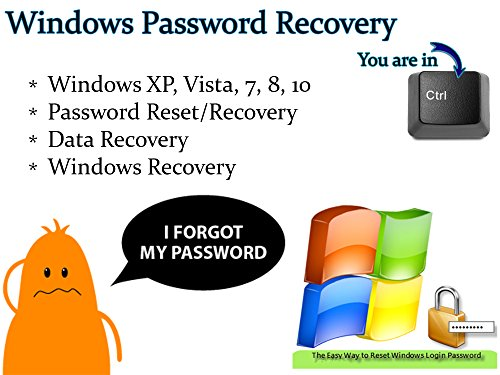 Windows Password Reset Data and System Recovery Tool Bootable Boot USB Flash Thumb Drive for PCs - Forgot your password? This is for you! (Windows Password Recovery Tool For Windows 8)
