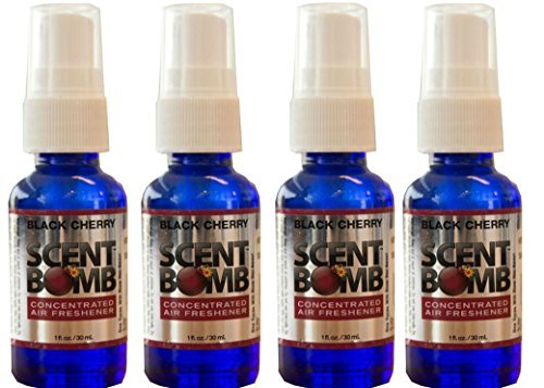 Scent Bomb Super Strong 100% Concentrated Air Freshener - 4 PACK (Black Cherry)